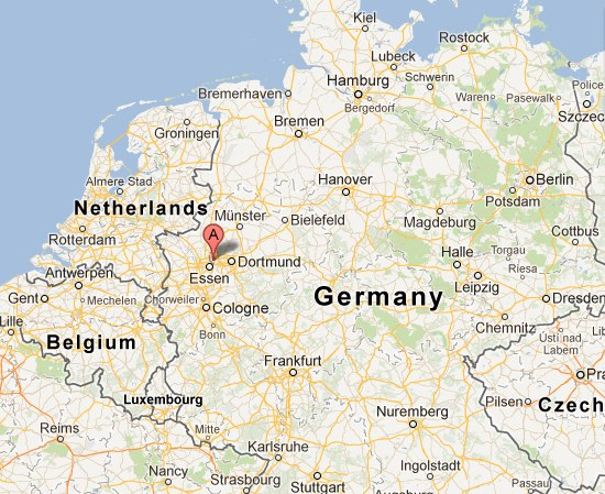 Gelsenkirchen Germany  city photos gallery : Gelsenkirchen Germany Map