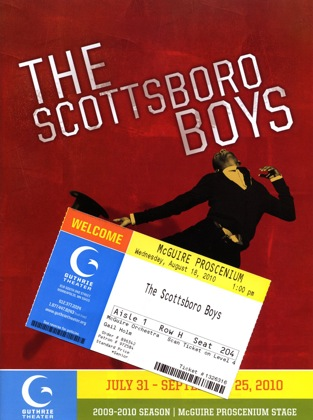 The program cover and a ticket stub                from The Scottsboro Boys.